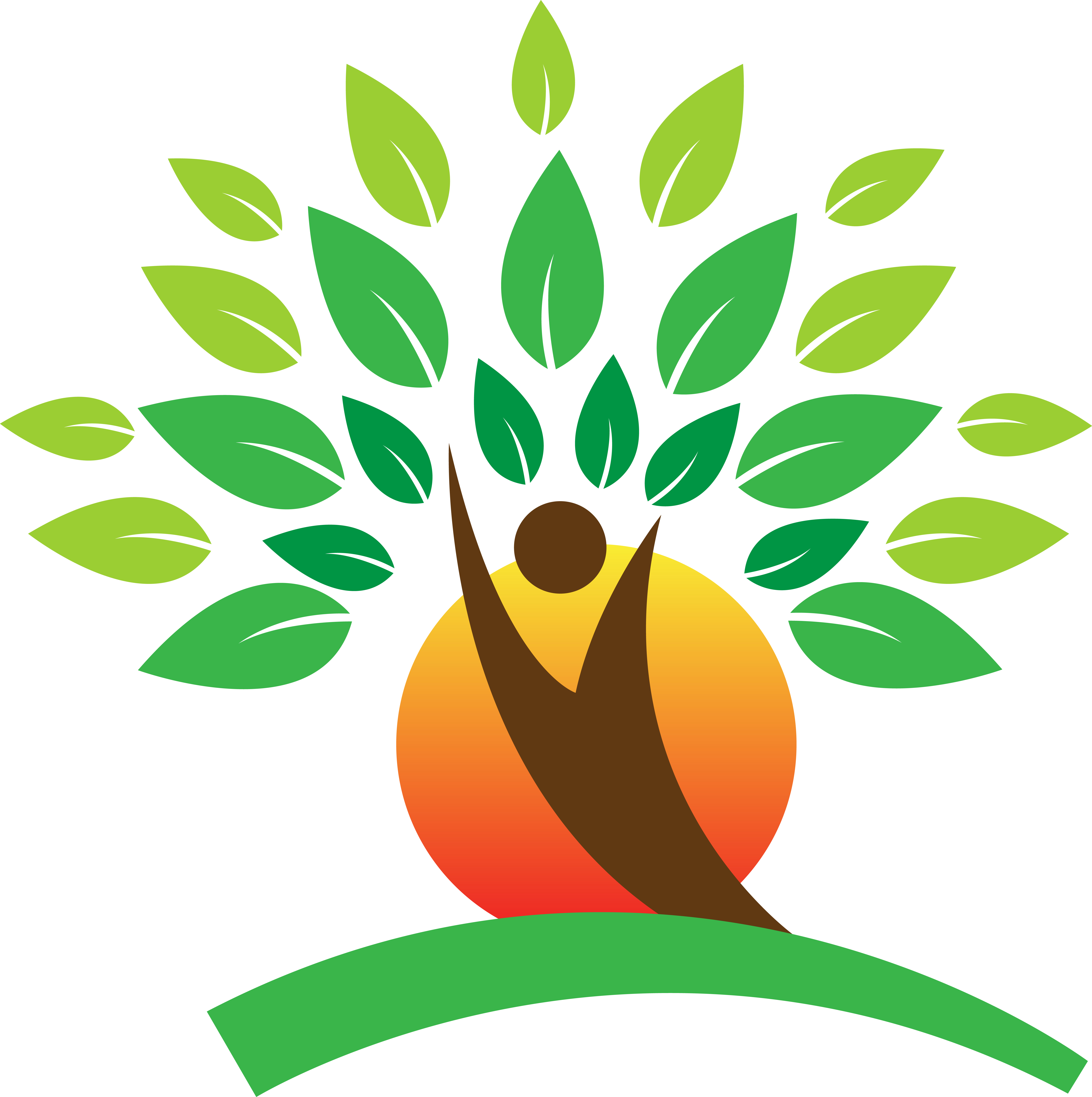 Tree logo - A vector drawing, represents tree logo design, Copyright Colorscurves <br />at Dreamstime.com-ID33038431